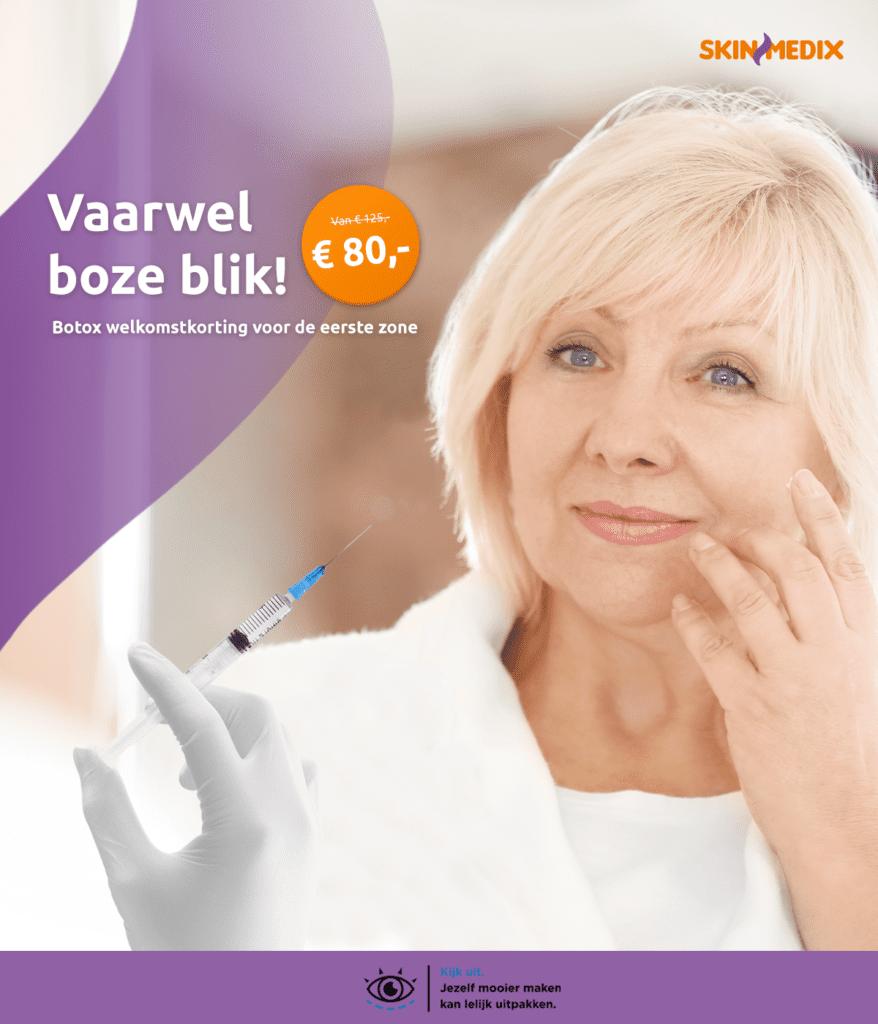 Botox behandeling korting SkinMedix Rilland Bergen op Zoom